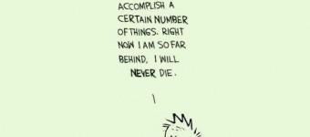 I am so far behind