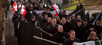 Nazi's march against themselves